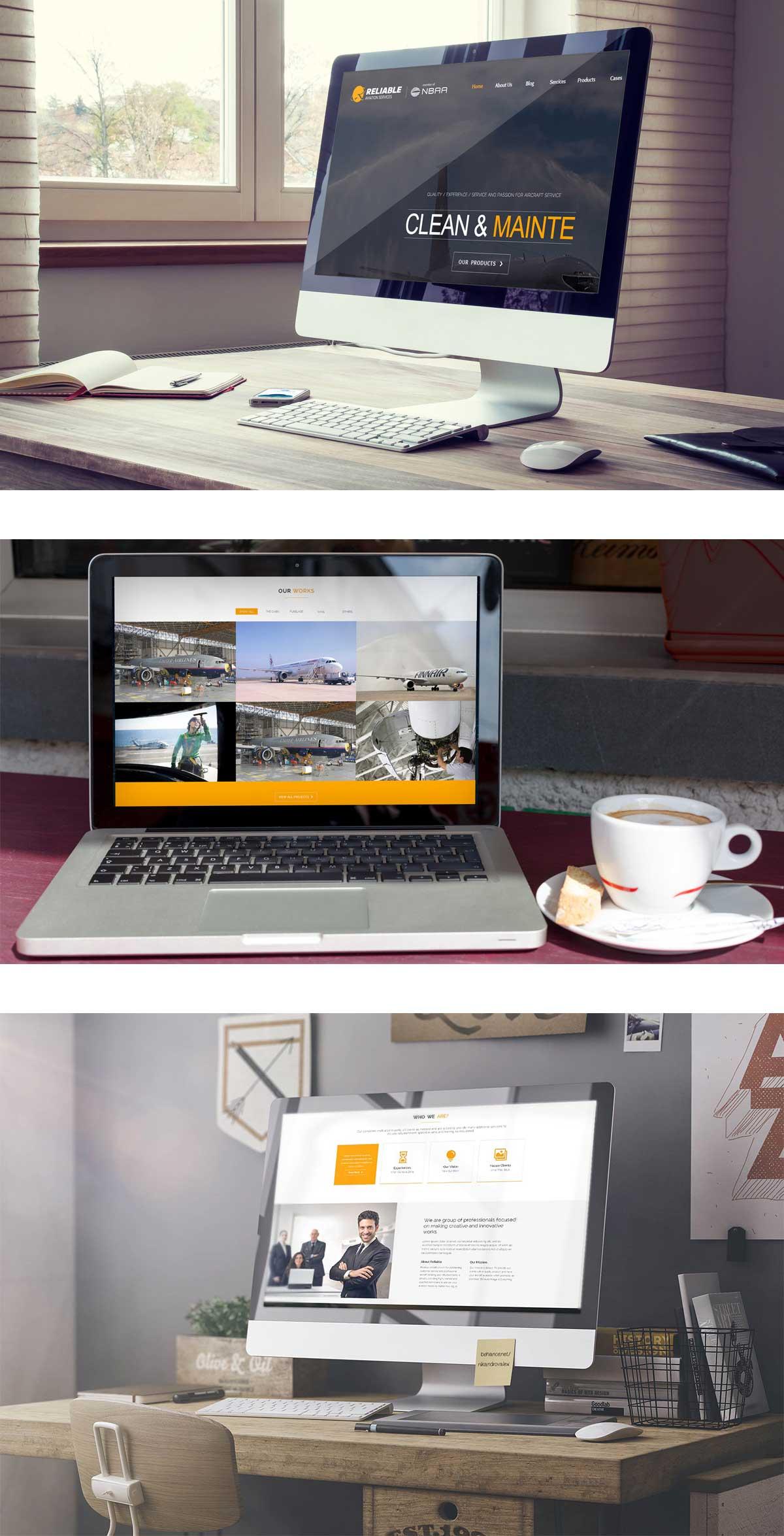 飞机保养网站设计效果图